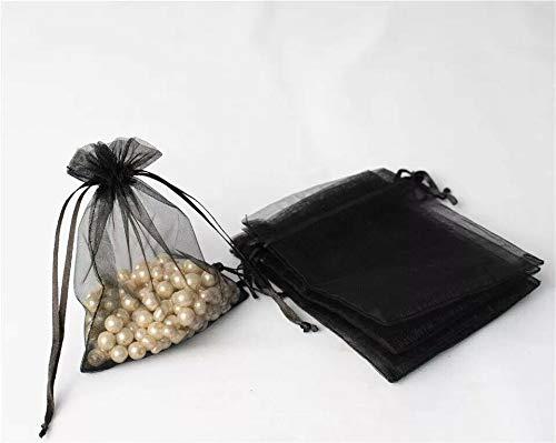 EliteKoopers - Bolsa de organza de 9 x 12 cm, para regalo de boda, fiesta, bolsa de cordón