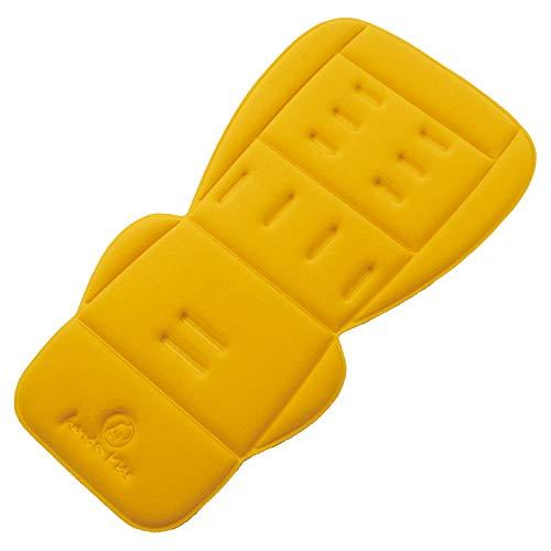 Forro polar para asiento de cochecito de bebé, universal, cálido y cómodo, cojín para asiento de cochecito de bebé, acolchado, para invierno amarillo Apricot Yellow Fleece Talla:78cm