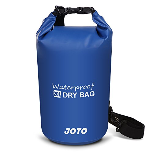 JOTO Dry Bag Sack Backpack 20L Waterproof Dry Bag for Outdoor Activities - Perfect for Boating, Kayaking, Fishing, Rafting, Hiking, Swimming, Floating, Camping [ 20L Floating Dry Bag ] (Navy Blue)