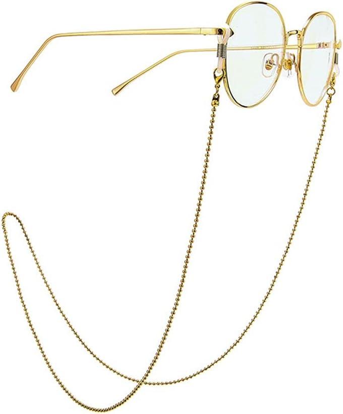 YFQHDD Womens Eyeglass Chains Sunglasses Reading Beaded Glasses Chain Eyewears Cord Holder Neck Strap Rope