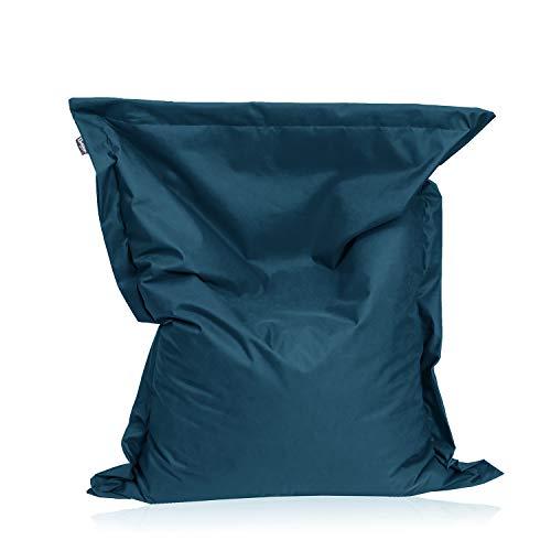 BuBiBag Sitzsack Sitzkissen Bean Bag Rechteck Größe 160 x 145 cm Indoor und Outdoor (Petrol)