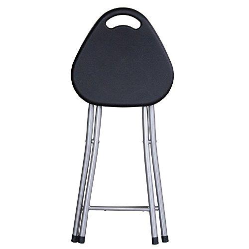 Stool Chaises Pliantes Banc Portable Tabouret Tabouret de Table Simple Tabouret de Pêche en Plastique Chaise Pliante (Couleur : Noir)