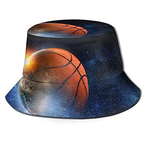 Sombrero unisex del cubo del juego del baloncesto sombrero del pescador al aire libre sombrero del sol Black-R9A A1