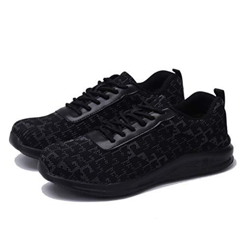 AZLLYMen's stalen teen industriële schoenen lichtgewicht ademende werkschoenen anti-slip slijtvaste Jungle schoenen outdoor wandelen jachtschoenen met Lace-Up