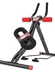Sportstech BT300 Professionele buiktrainer met draaibare kniesteun voor zijdelingse buikspieren, S-vormrail, 25 aanpassingsopties + weerstandsbanden incl. AB Shape Trainer voor Sixpack (BT300)*