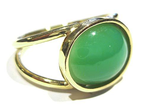 anillo crisoprasa Oro 750% (18 k)