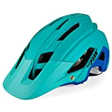 Brony Casco De Bicicleta para Adultos Resistente A Los Golpes Ligero EPS PC Sports MTB Protector De Bicicleta Hombres Mujeres Unisex J654,Azul