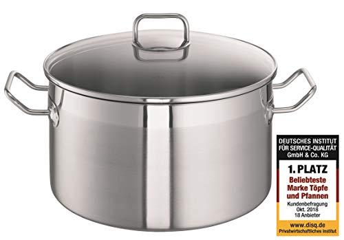 Schulte-Ufer XXL-Pot ProfessPlus i, Flat, Cooking/Soup Pot, Stainless Steel, 28 cm, 9.5 L, 0419-28 i