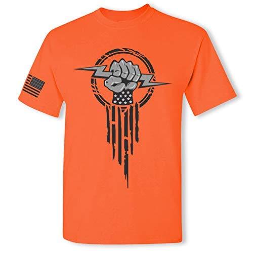 Product Image 7: Electrician Superhero Electrical Worker Lightning Bolt Fist Short Sleeve T-Shirt