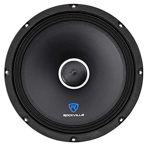 "Rockville RXM84 8"" 250w 4 Ohm Mid-Bass Driver Car Audio Speaker, Mid-Range"