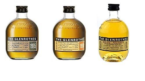 3er Set Glenrothes a 0.1l 1998 + 1995 + Reserve speyside Single Malts