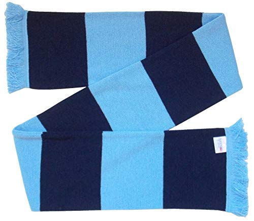 Wycombe Wanderers Supporters Navy and Sky Blue Retro Bar Scarf