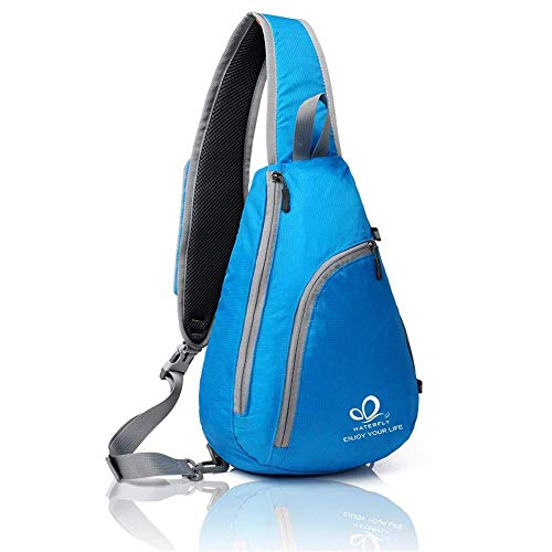 WATERFLY Crossbody Bag Damen und Herren Sling Bag Triangle Pack Rucksack für Reisen, Sport, Wandern