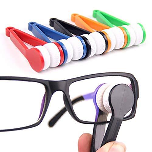 Brillenreiniger, 5 Stück, Mini-Sonnenbrillen, Brillen, Mikrofaser, Brillenreiniger, Reinigungsbürste, tragbarer magnetischer Glasreiniger