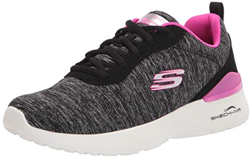 Skechers Skech-Air Dynamight Paradise Waves, Zapatillas Mujer, Negro/Rosa, 38 EU