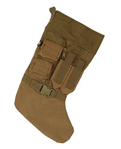 LA Police Gear LAPG-AC-TCS4 Tactical Vest Christmas Miniature Pouches Central Zipper Stocking-Coyote