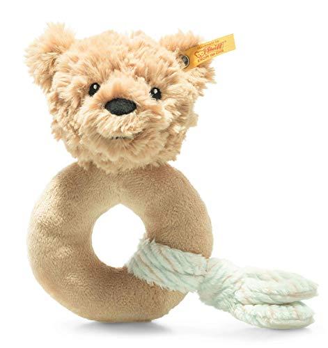 Steiff 242298 Soft Cuddly Friends Jimmy Teddybär Greifling - 14 cm - Kuscheltier für Babys - beige (242298), beige 61 g