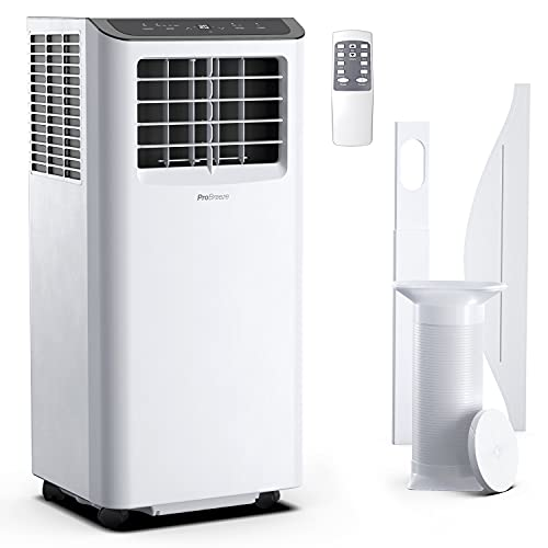 Pro Breeze Smart Air Conditioner Portable 10,000 BTU - 1130W Portable Air Conditioner with 4-in-1 Function, 300 Sq Ft Coverage, 24 Hour Timer & Window Venting Kit Included - Powerful AC Unit with Wifi