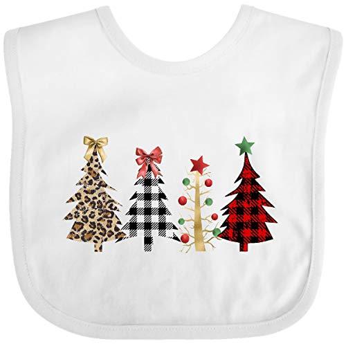 Inktastic Pretty Christmas Trees Baby Bib White 3cdf4
