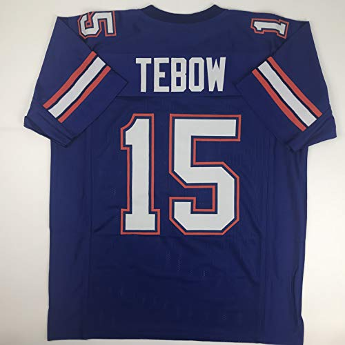 Unsigned Tim Tebow Florida Blue Custom Stitched College Football Jersey Size Men's XL New No Brands/Logos
