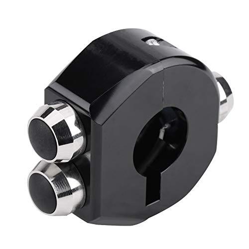 Interruptor del manillar de la motocicleta Control de faros Botón de reinicio de bloqueo momentáneo(Plata)