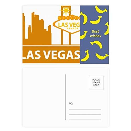 DIYthinker Willkommen nach Las Vegas Nevada Amerika Banana Postkartenset dankt Karte Mailing Side 20pcs 5.7 Zoll x 3.8 Zoll Mehrfarbig