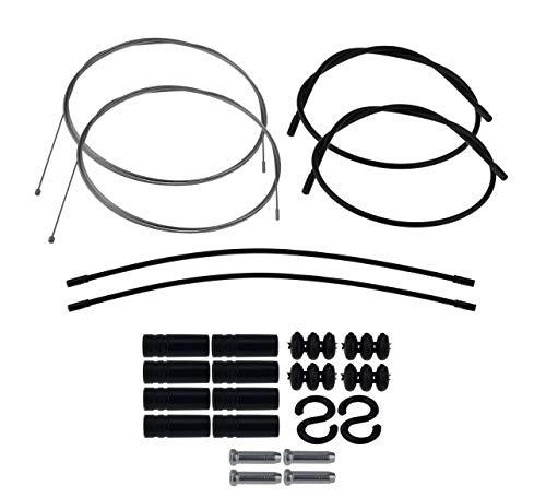 P4B | Komplettes Schaltzugset - Außenhülle = 2X 600 mm + 2X 300 mm | Universell einsetzbar Dank Doppelnippel | Aus korrosionsbeständigen Stahl
