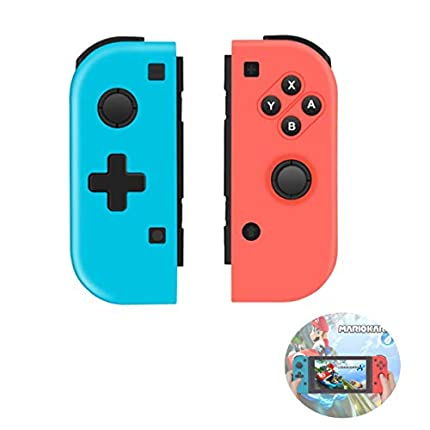 TUTUO Wireless Controller para Nintendo Switch, Gamepad Gaming Bluetooth Mando Controllers Izquierdo/Derecho compatibles con Switch Pro
