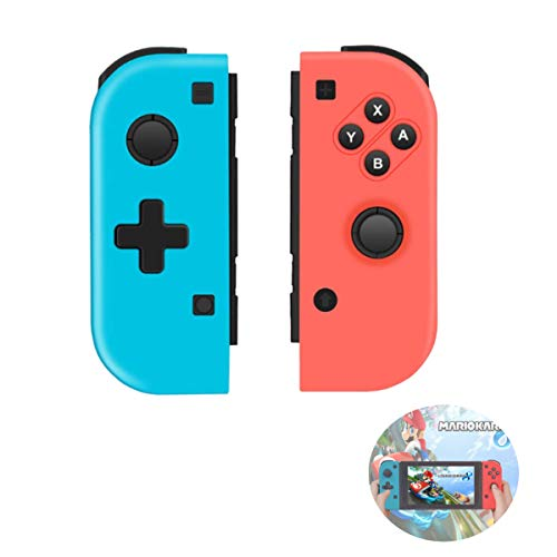 TUTUO Wireless Controller para Nintendo Switch, Gamepad Gaming Bluetooth Mando Controllers Izquierdo/Derecho compatibles con Switch Pro