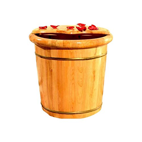 Amazing Deal Household Gift Foot Soaker Tub,Wooden Foot Soak Tub Footbath,Wooden Foot Bath Barrel Wo...