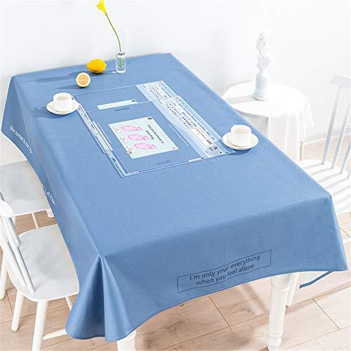 Mantel a cuadros de lino de algodón, cubierta de mesa