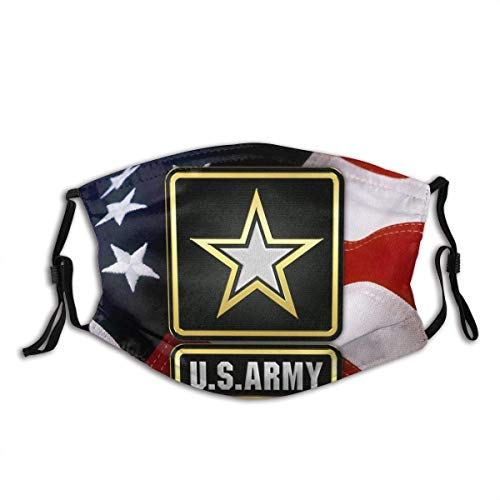 WEDA U.s. Army Logo on American Flag Unisex dust masks, washable and reusable outdoor dust masks, special holiday funny mask gifts