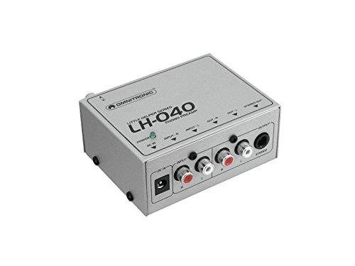 Omnitronic LH-040 Phono-Vorverstärker | Zum Anschluss eines Plattenspielers über Stereo-Cinch-Eingang | Cinch-Ausgang zum Anschluss an Aktivboxen oder Stereoanlage