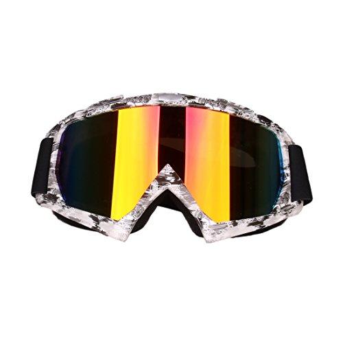 Foxom AntiGraffio Antivento Anti-UV UV400 Occhiali Occhiali per Sci Ciclismo Arrampicata Escursioni Motociclo ATV di Motocross