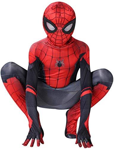 AZITEKE Spinnenmann Superheld - Cosplay Kostüm Erwachsene Kinder Spider-Man Halloween Kostüm Overall (Kids-3XL, Spider Man-Red)