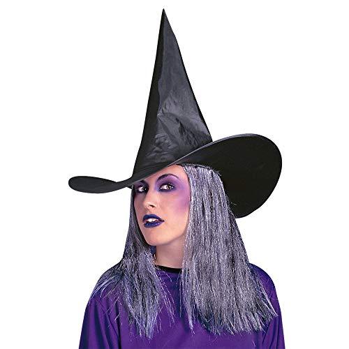 Widmann Hexe mit grauem Haar Halloween Hexenhut Kappen & Kopfbedeckung für Kostüme Zubehör