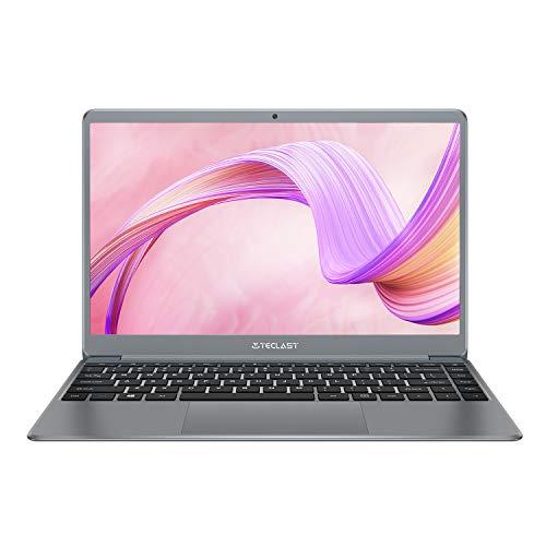 Ordenador Portátil 14.1 Pulgadas, TECLAST F7Plus PC Portátil 8GB RAM 256GB SSD FHD Windows 10 con Teclado Retroiluminado, Intel Celeron Quad-Core 256GB TF Extensión, USB 3.0/ Batería 38000mWh (QWERTY)