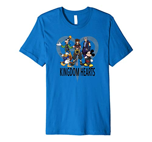 Disney Kingdom Hearts III Characters and Symbol T-Shirt