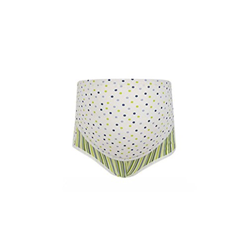 BESTOYARD BESTOYARD Damen Umstandsmode Slips Baumwolle hohe Taille Unterhosen Bauch Unterstützung Unterwäsche Höschen für Schwangere Größe XL (weiße und grüne Punkte)