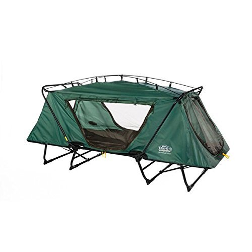 Kamprite DTC-443 Tri-Fold Oversize Tent-cot with Rainfly, Includes Carry Bag, Green by Kamp-Rite