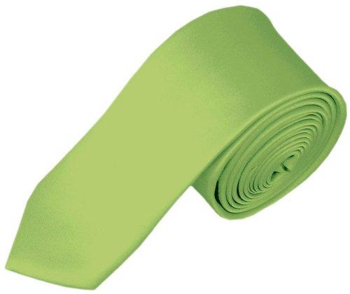 Efashionsquare Jungen Solid Farbe 122cm Krawatte-Birne grün