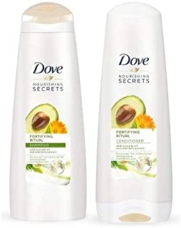 Dove Nourishing Rituals Fortifying Ritual Shampoo and Conditioner Set, 12 oz each (Set Contains 2 items)