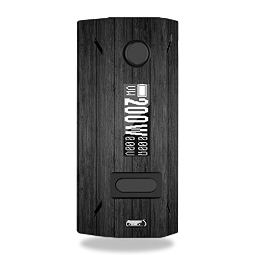 MightySkins Skin Compatible with Smoant Battlestar 200W - Black Wood | Protective, Durable, and Unique Vinyl Decal wrap Cover | Easy to Apply, Remove, and Change Styles | Made in The USA