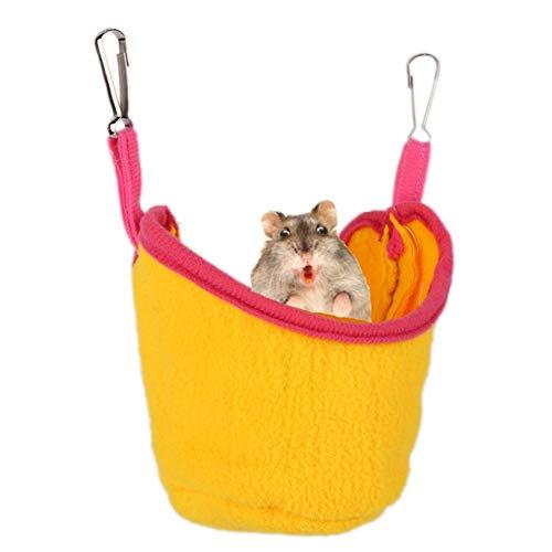 Rat Hangmatten Cavia Bed Hamster Hangmat Cavia Huis Hamster Kooi Accessoires Rat Kooi Accessoires Hamster Bed Cavia Hangmat Rat Bed Eekhoorn Slaapzak yellow