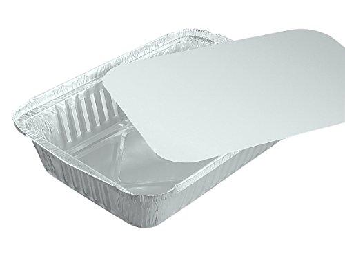 100 Schalen, Alu + Einlegdeckel, Pappe PE beschichtet eckig 0,8 l 21,8 cm x 15,5 cm R84L