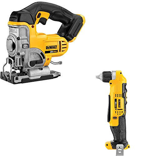 DeWalt DCS331B 20V Max Jig Saw & DeWalt DCD740B 3/8' Right Angle Drill/Driver