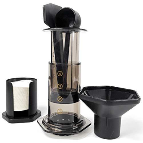COOLSHOPY Filtro de Vidrio Espresso Cafetera portátil Cafe French Press café del pote del café for la máquina