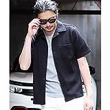 ラトルトラップ(RattleTrap) オープンカラー半袖カットソーシャツ【03ブラック/M】