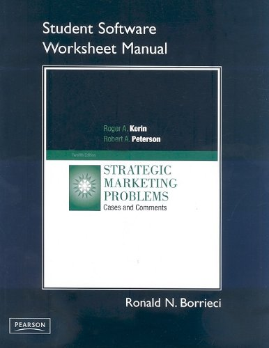 Strategic Marketing Problems: Cases and Comments With Cd-rom