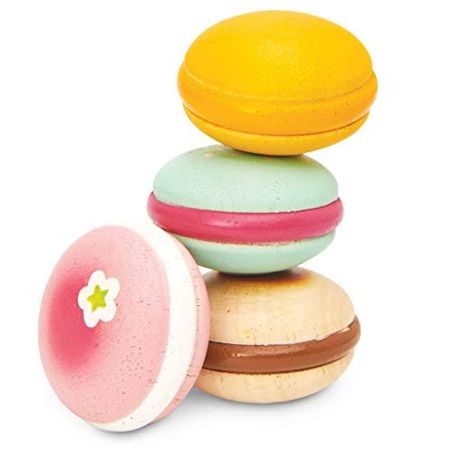 Le Toy Van- Set di Macaroni francesi in Legno per Patisserie Torte, Colore, Macaroons Wooden Baking & Play Food